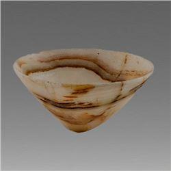 Alabaster Bactrian Style Bowl.