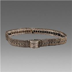 Antique Russian Silver Belt. size 33 inches length.