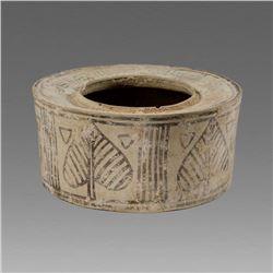 Indus Valley Terracotta Pyxis bowl c.1000-2000 BC.
