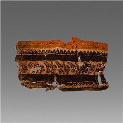 Ancient Egyptian Coptic Textile Fragment c.5th century AD.