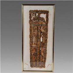 Ancient Egyptian Cartonnage Fragment c.3rd century BC.