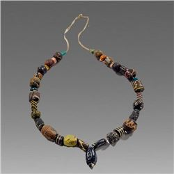 Ancient Islamic Mosaic Glass Beads necklace c.8th century AD.