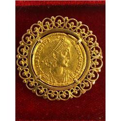 Ancient Roman Empire - Constantius II (337 - 361 A.D.) gold solidus