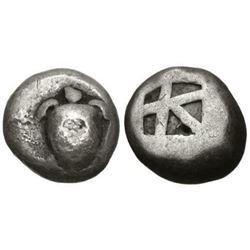 Ancient Greek ISLANDS off ATTICA, Aegina. Circa 525-480 BC. Silver Stater (18mm, 11.94 g, 3h). Sea t