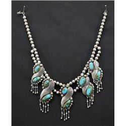NAVAJO INDIAN NECKLACE (HERBERT PLATERO)