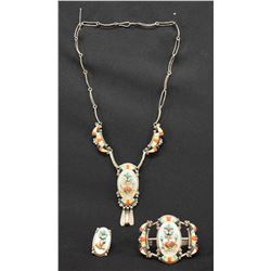 ZUNI INDIAN JEWELRY SET ( MIKE & SARAH SIMPLICIO)