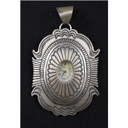NAVAJO INDIAN WATCH PENDANT (JENNIE BLACKGOAT)