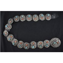 NAVAJO INDIAN CONCHO BELT