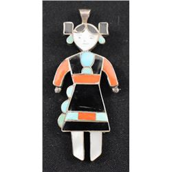 ZUNI INDIAN PIN PENDANT (EDISON