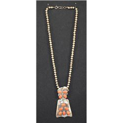 NAVAJO INDIAN NECKLACE (CARL LUTHY)