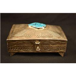 NAVAJO INDIAN SILVER BOX