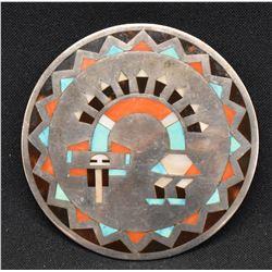 ZUNI INDIAN PIN/PENDANT ( FRED & LOLILITA NATACHU )