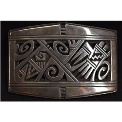 HOPI INDIAN BUCKLE ( MICHAEL KABOTIE)