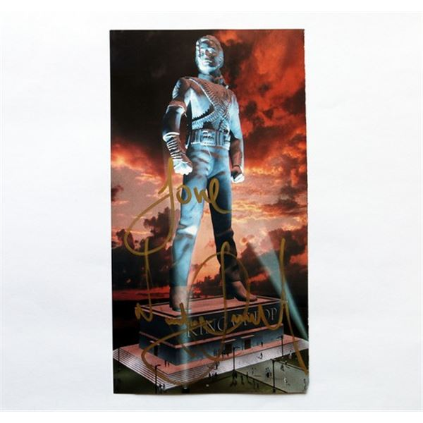 Michael Jackson's Signed Ultimate Collection Booklet Page