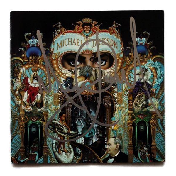 Michael Jackson Signed Dangerous Booklet Cover