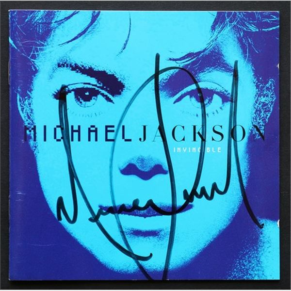 Michael Jackson Signed Invincible CD Booklet Cover