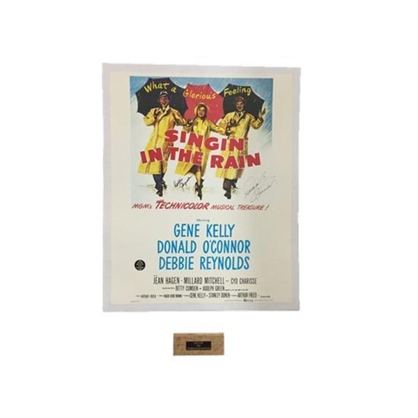 Singing in the Rain (1952) Half Sheet Poster with Piece of Debbie Reynolds Dance Studio Floor