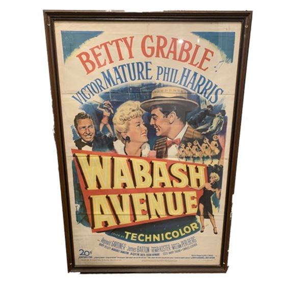 Wabash Avenue Litho Movie Poster Framed