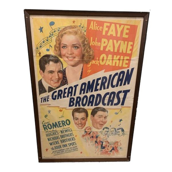 The Great American Broadcast Movie Poster Litho