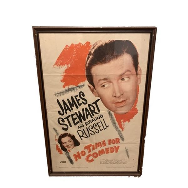 No Time For Comedy Litho Movie Poster