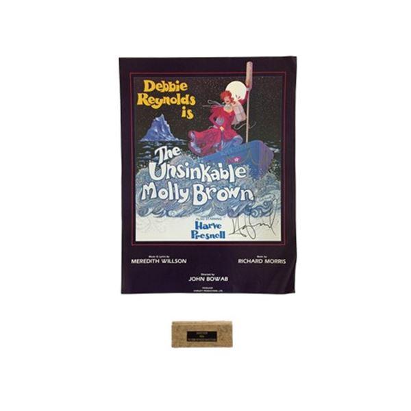 The Unsinkable Molly Brown Half Sheet Poster with Piece of Debbie Reynolds Dance Studio Floor