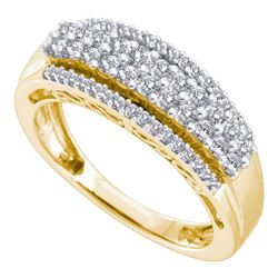 5/8 CTW Womens Round Diamond Band Ring 14kt Yellow Gold - REF-54Y5N