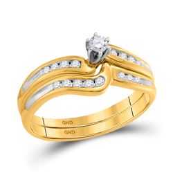 1/4 CTW Round Diamond Bridal Wedding Ring 10kt Yellow Gold - REF-27H8R