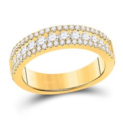 1 CTW Womens Round Diamond Band Ring 14kt Yellow Gold - REF-88T5V