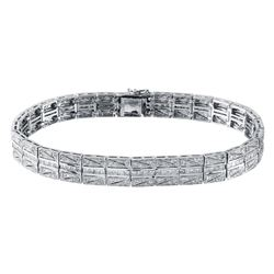 3.03 CTW Diamond Bracelet 18K White Gold - REF-390K8W