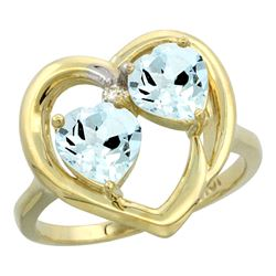 2.60 CTW Aquamarine Ring 14K Yellow Gold - REF-42F3N