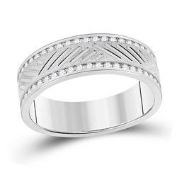 1/2 CTW Mens Round Diamond Wedding Machine Set 10kt White Gold - REF-65X4T