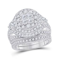 2 & 3/4 CTW Princess Diamond Bridal Wedding Ring 14kt White Gold - REF-265V9Y