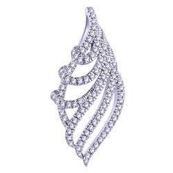 0.14 CTW Diamond Pendant 14K White Gold - REF-12N6Y