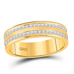 1 CTW Womens Round Diamond Wedding Band Ring 14kt Yellow Gold - REF-109V2Y
