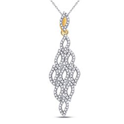 3/8 CTW Womens Round Diamond Fashion Pendant 10kt Yellow Gold - REF-24M5F
