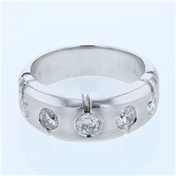 0.89 CTW Diamond Ring 14K White Gold - REF-120N2Y