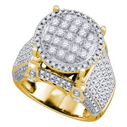 1 & 3/4 CTW Womens Round Diamond Fashion Ring 10kt Yellow Gold - REF-156N7A