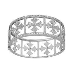 3.43 CTW Diamond Bangle 14K White Gold - REF-325Y7X