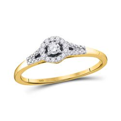 1/8 CTW Womens Round Diamond Solitaire Promise Ring 10kt Yellow Gold - REF-21N2A