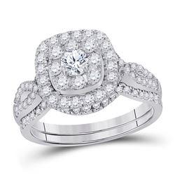 1 CTW Round Diamond Bridal Wedding Ring 14kt White Gold - REF-122A6M