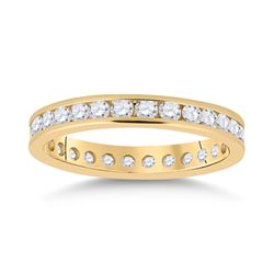 1 CTW Womens Round Diamond Eternity Wedding Band Ring 14kt Yellow Gold - REF-85V4Y