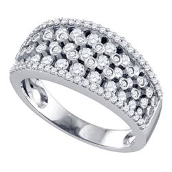 1 CTW Womens Round Diamond Band Ring 10kt White Gold - REF-81Y7N