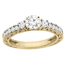 1.10 CTW Diamond Ring 14K Yellow Gold - REF-307W6F