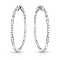 2.71 CTW Diamond Earrings 14K White Gold - REF-192K2W