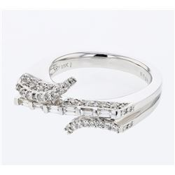 0.79 CTW Diamond & Diamond Ring 18K White Gold - REF-129F5N