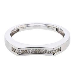 0.25 CTW Diamond Band Ring 14K White Gold - REF-37M5F