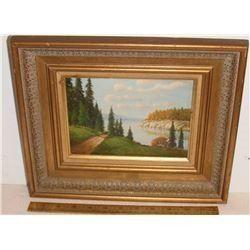 """Beautiful scène  """"Path to the Lake"""" by Chris - image 6 x 8 """" - """"Passe allant au lac"""" belle scène"""