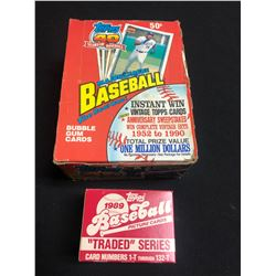 TOPPS BASEBALL BUBBLE GUM/ PICTURE CARD LOT