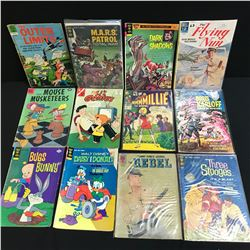VINTAGE GOLD KEY/ DELL COMIC BOOK LOT (BUGS BUNNY, THE THREE STOOGES...)