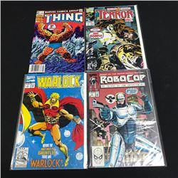 MARVEL COMICS BOOK LOT (WARLOCK, THE THING, ROBOCOP...)